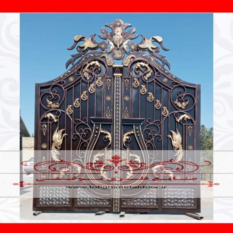 درب فلزی فرفورژه لوکس کد ۸۷۹