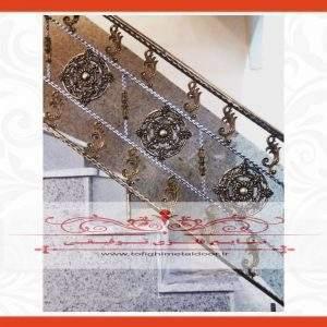 نرده فرفورژه راه پله کد ۹۱۲